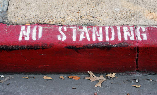 """Curb marked """"No Standing"""""""