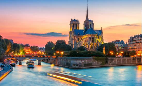 Notre Dame de Paris over the River Seine