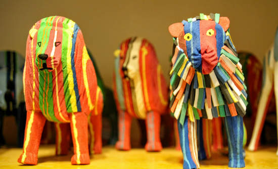 Ocean Sole, in Nairobi, collects discarded flip-flops to make animal figurines