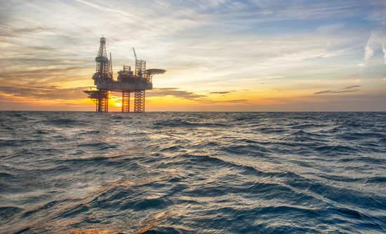 Oil rig in the ocean