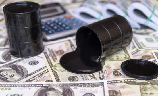 oil barrels on top of cash