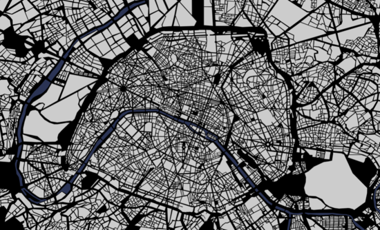 Illustration of a map of Paris
