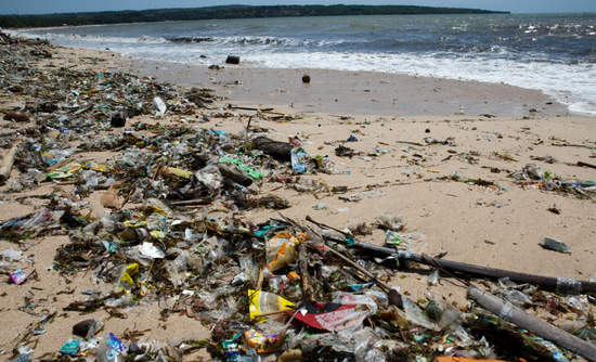 Plastic waste is a major source of ocean pollution.