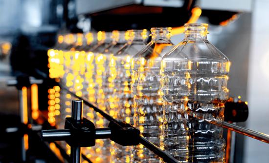 plastics in a factory line