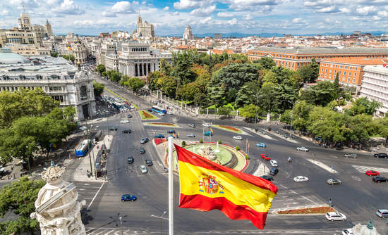 Plaza de Cibeles in Madrid, Spain