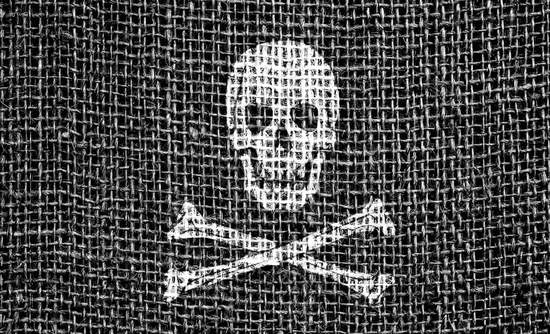 Poison symbol on cloth
