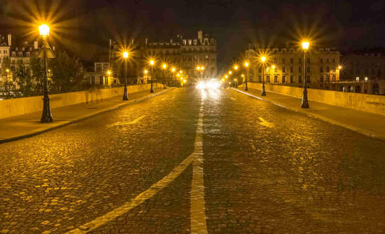 Pont Royal, Paris, by night