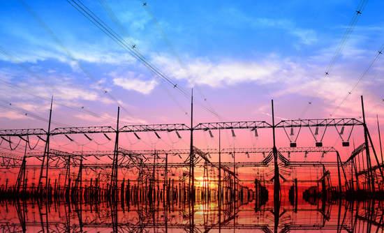 Power grid, sunset