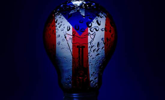 Puerto Rico in lightbulb