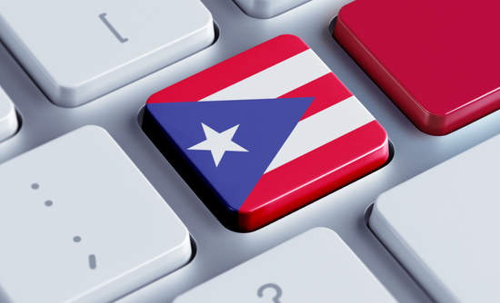 Puerto Rico flag as a keyboard button