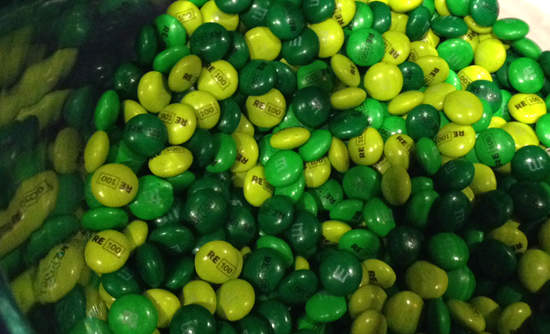 """RE100"" M&Ms to represent renewable energy"