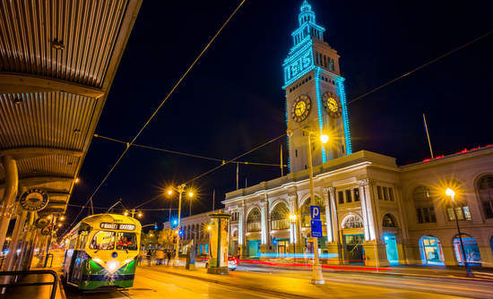 San Francisco California climate goals buildings transit