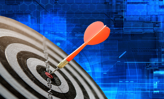 an arrow hitting a target