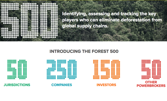 Forest 500 Nike, Gap, IKEA, Coach, McDonald's, Cargill supply chain deforestation