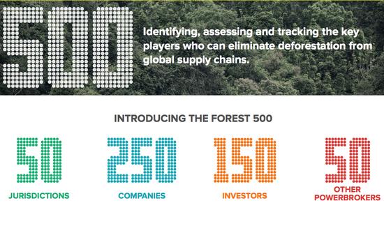 Forest 500 Nike, Gap, IKEA, Coach, McDonald's, Cargill supply chain deforestation