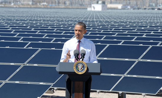 Barack Obama solar panels rewneable energy investment
