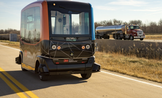 EasyMile's driverless electric shuttle.