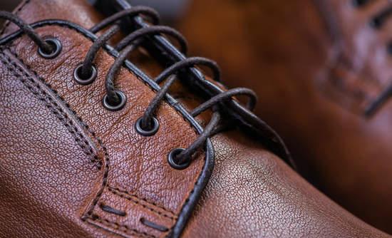 A brown man's shoe