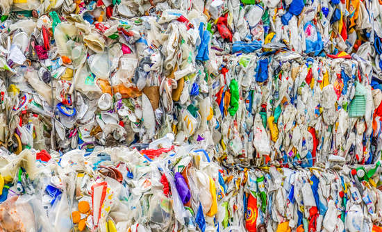 plastic bales, recycling, MRF