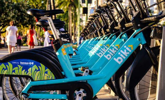 Biki, bike share, Honolulu, Hawaii, Elemental Excelerator