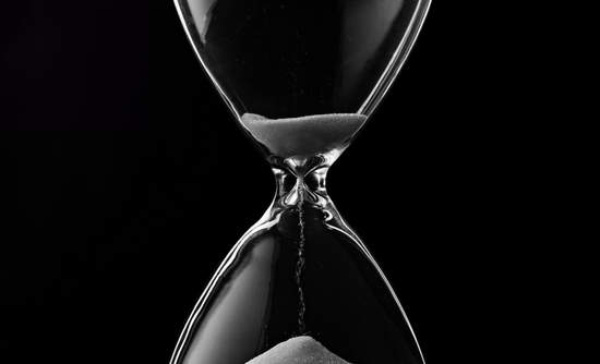 Sands through an hourglass
