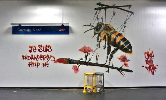 bee graffiti