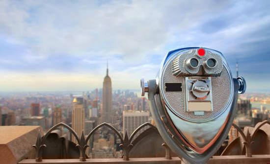 A public telescope in Manhattan