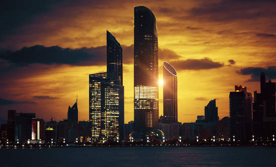 Abu Dhabi skyline oil prosperity and energy future