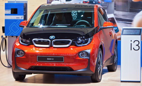 BMW i3 electric vehicle charging