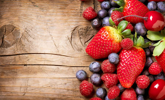 fresh fruit and food waste
