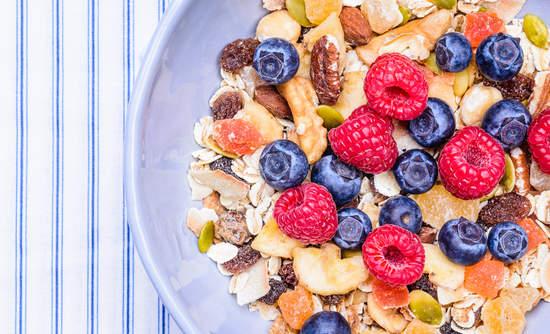 granola berries, Clif Bar and Kashi organic food supply