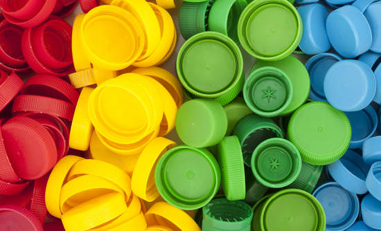 plastic bottle caps, plastic recycling circular economy