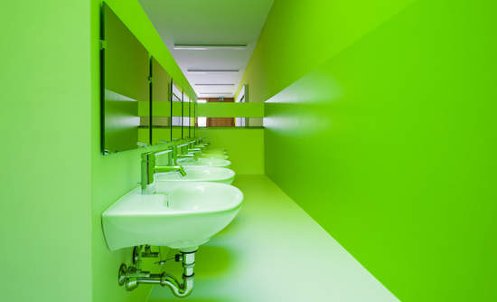 corporate campus sinks, water use