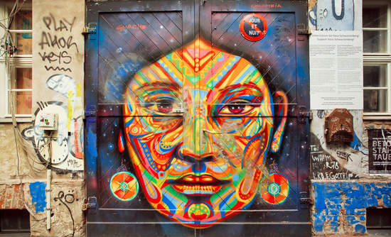 woman's face grafitti women's rights and sustainability