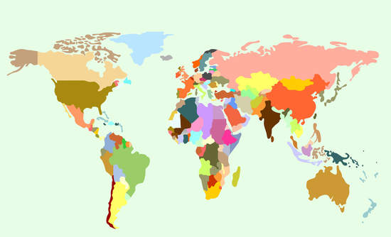 world map global carbon emissions and GDP