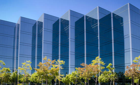 Office buildings in Silicon Valley.