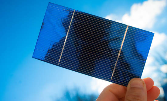 holding up solar cell
