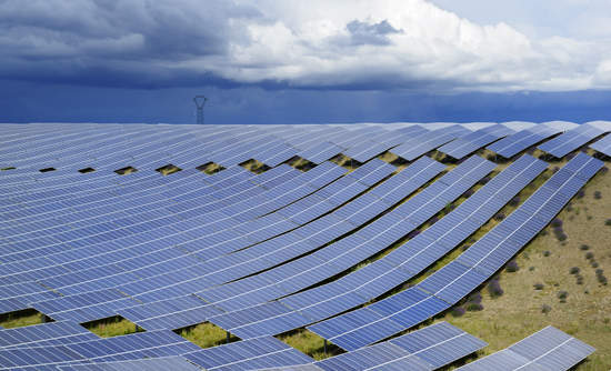 A solar power plant in France. Eurozone companies are distinctly ahead of the rest of the world in adopting sustainability metrics.