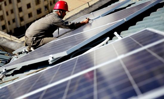 Solar panels in China