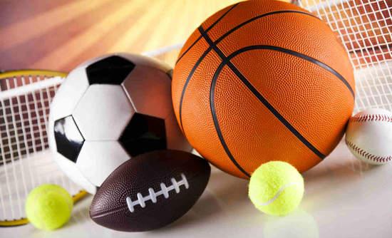Variety of sports balls