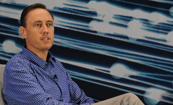 Steve Jurvetson onstage at VERGE