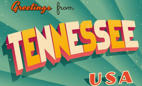 Tennessee vintage design postcard