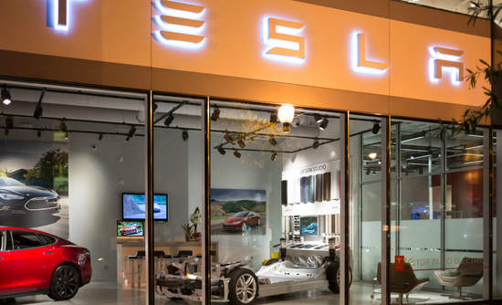 A Tesla showroom in Washington, D.C.