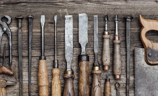 Image of woodworking tools on a table