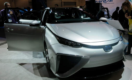 Toyota's fuel cell vehicle at CES 2015.