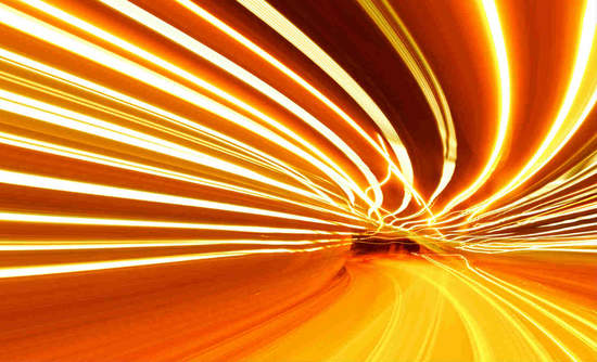 Slow-motion image of traffic