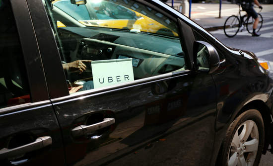 An Uber car in New York City
