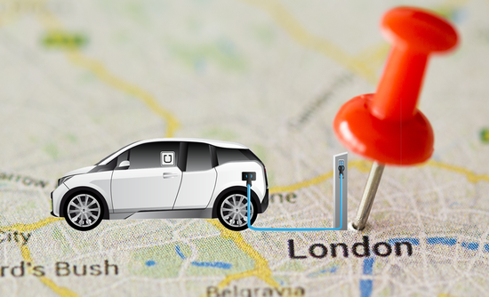 Electric charging uber in London