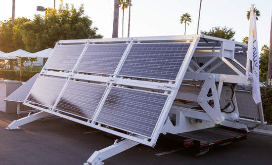 Folding solar panels from JLM Energy