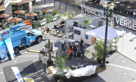 A bird's-eye view of the microgrid at VERGE San Jose